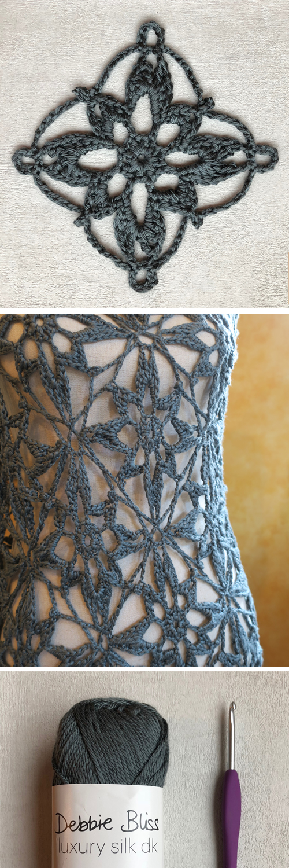 Star Flower Crochet Motif Free Pattern Mezzacraft Sharing The