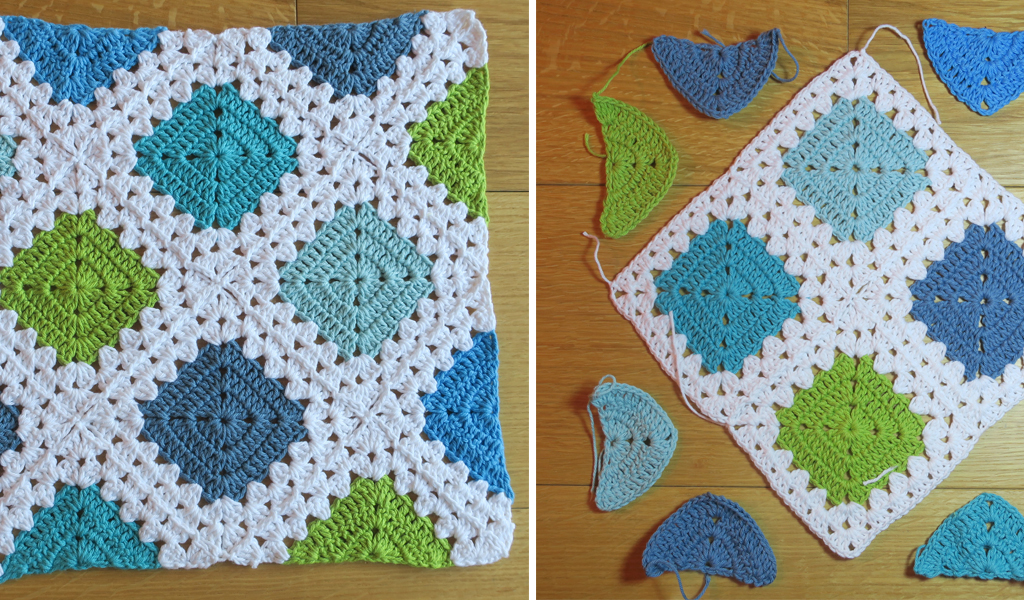 CROCHET JOINING HALF MOTIFS NO SEW